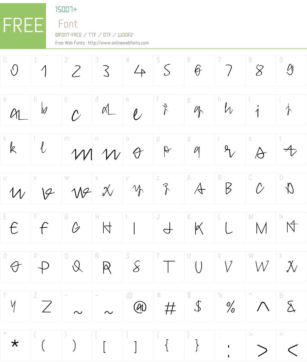 Hong Kim Font Screenshots
