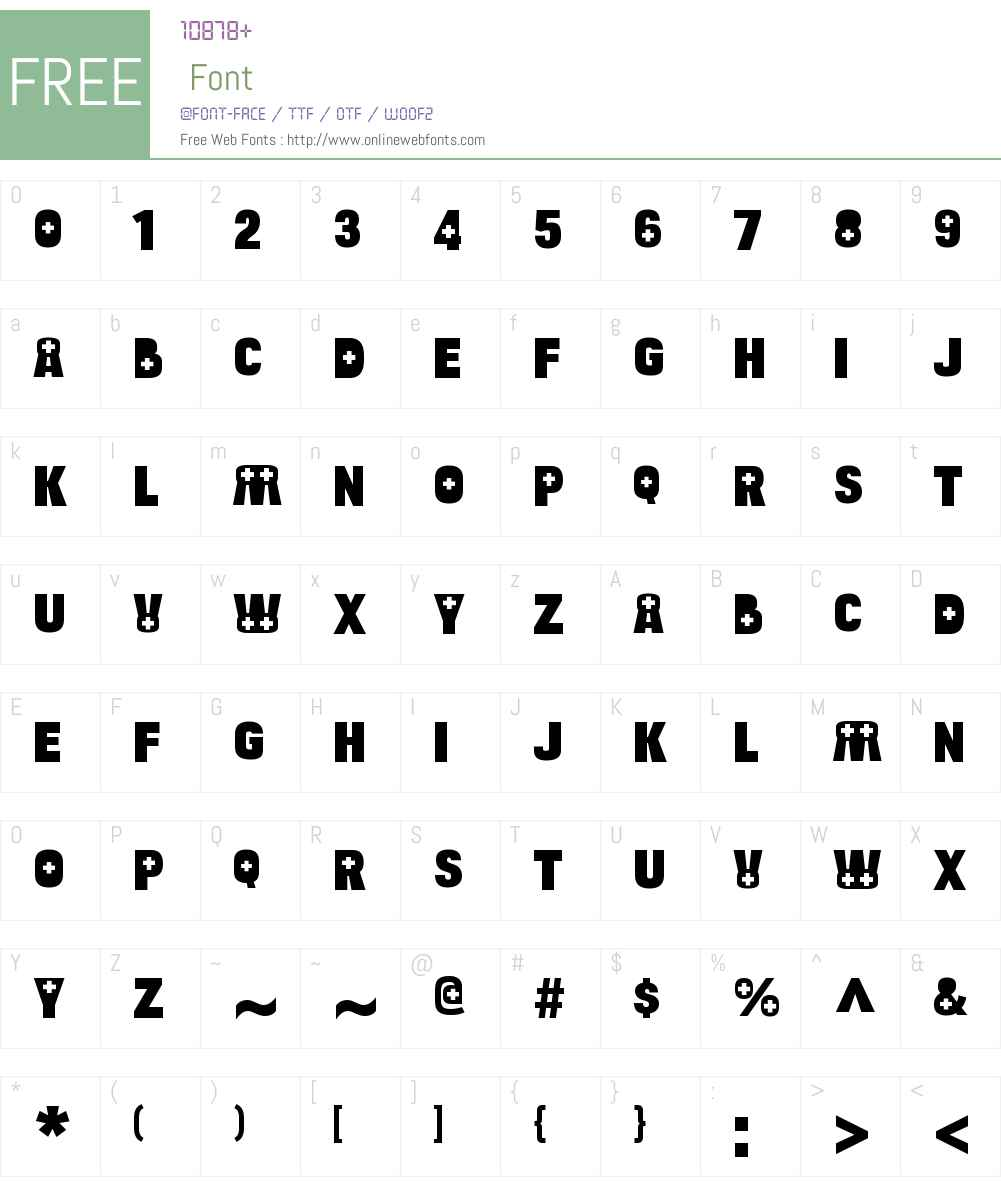 Bulltoad Health Font Screenshots