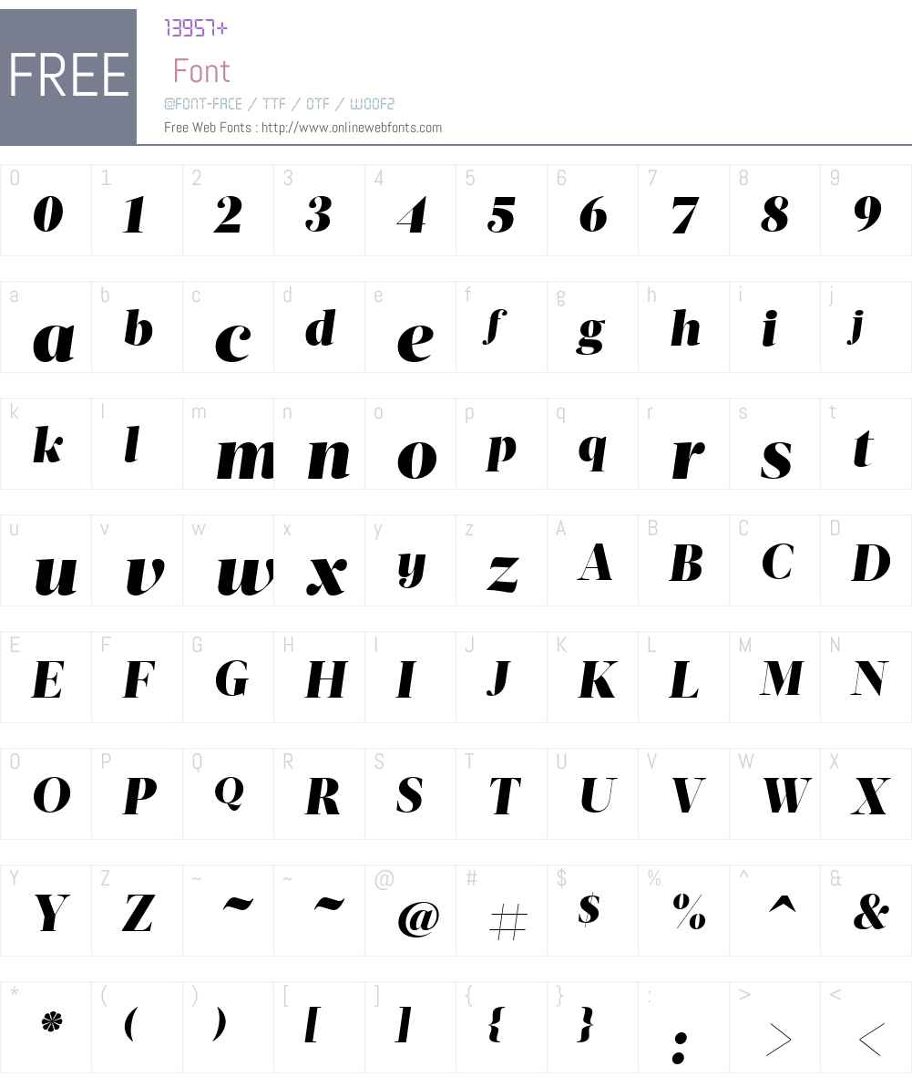ActaDisplayW01-BlackItalic Font Screenshots