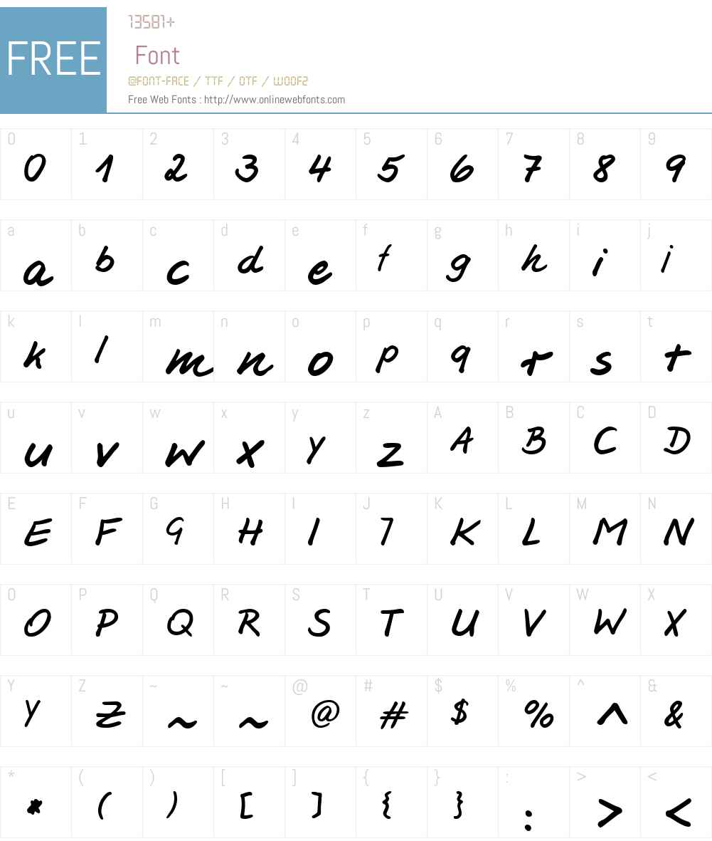 Jesco3 Handwriting Font Screenshots