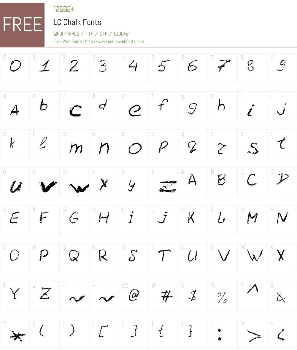 LC Chalk Font Screenshots