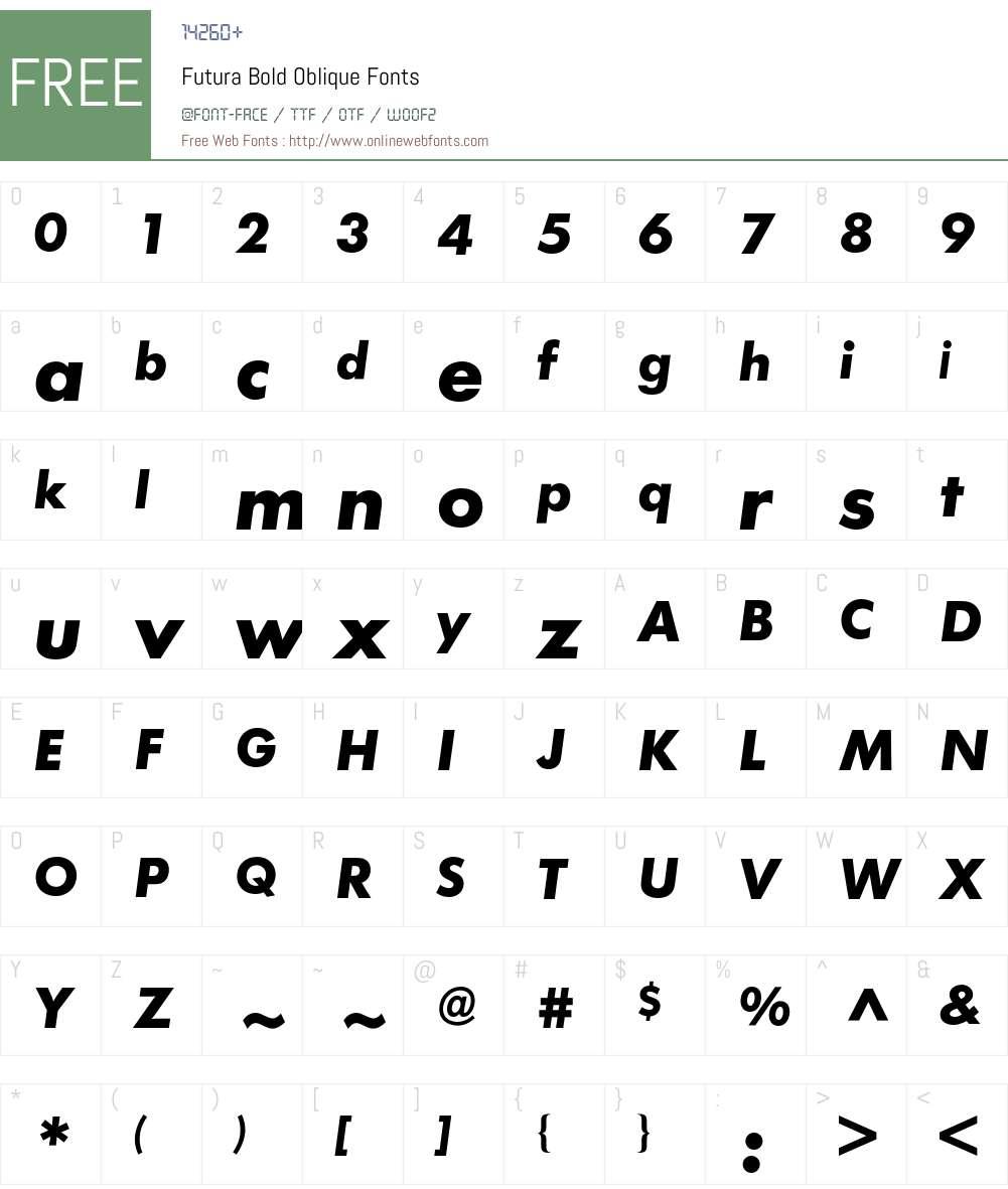 Futura BQ Font Screenshots