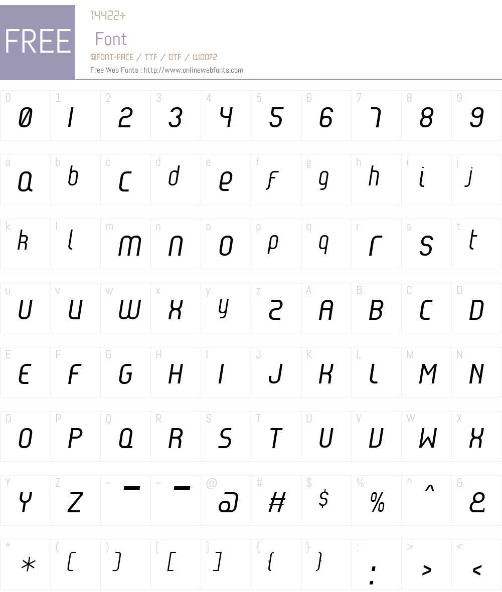 Reflex Font Screenshots