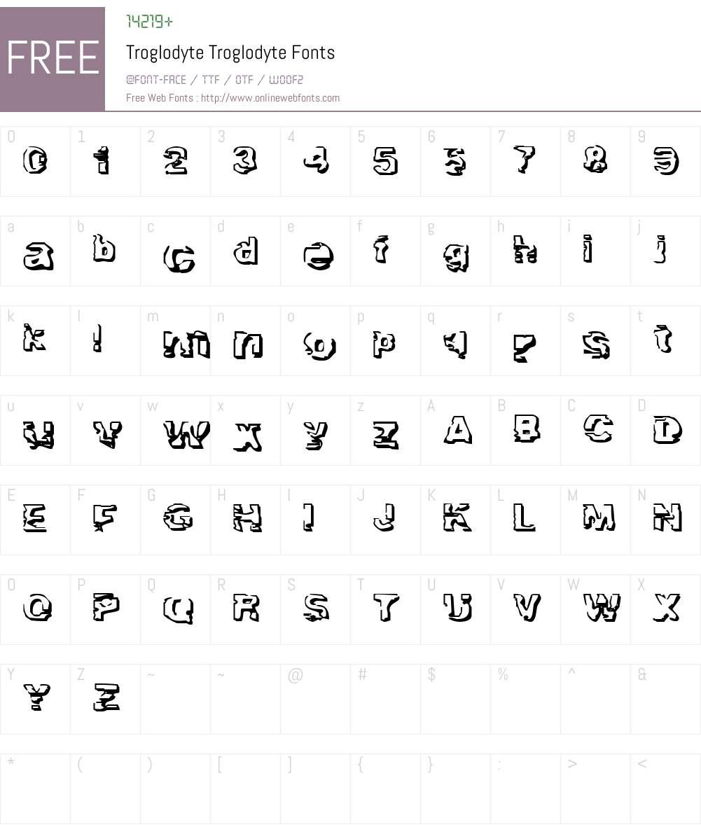 Troglodyte Font Screenshots