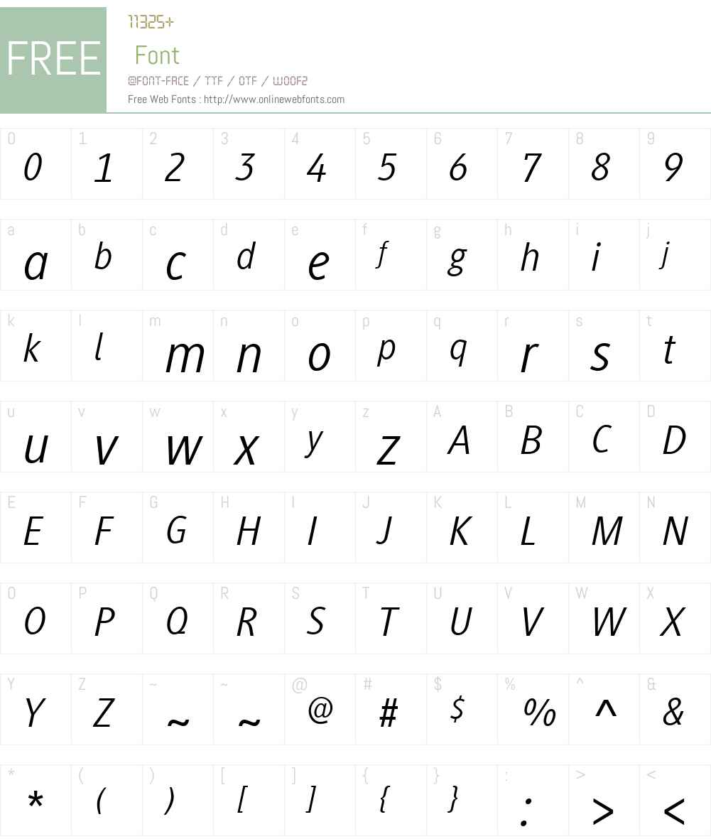 Generis Sans Font Screenshots