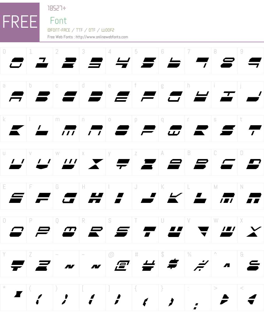 Quickmark Condensed Italic Font Screenshots