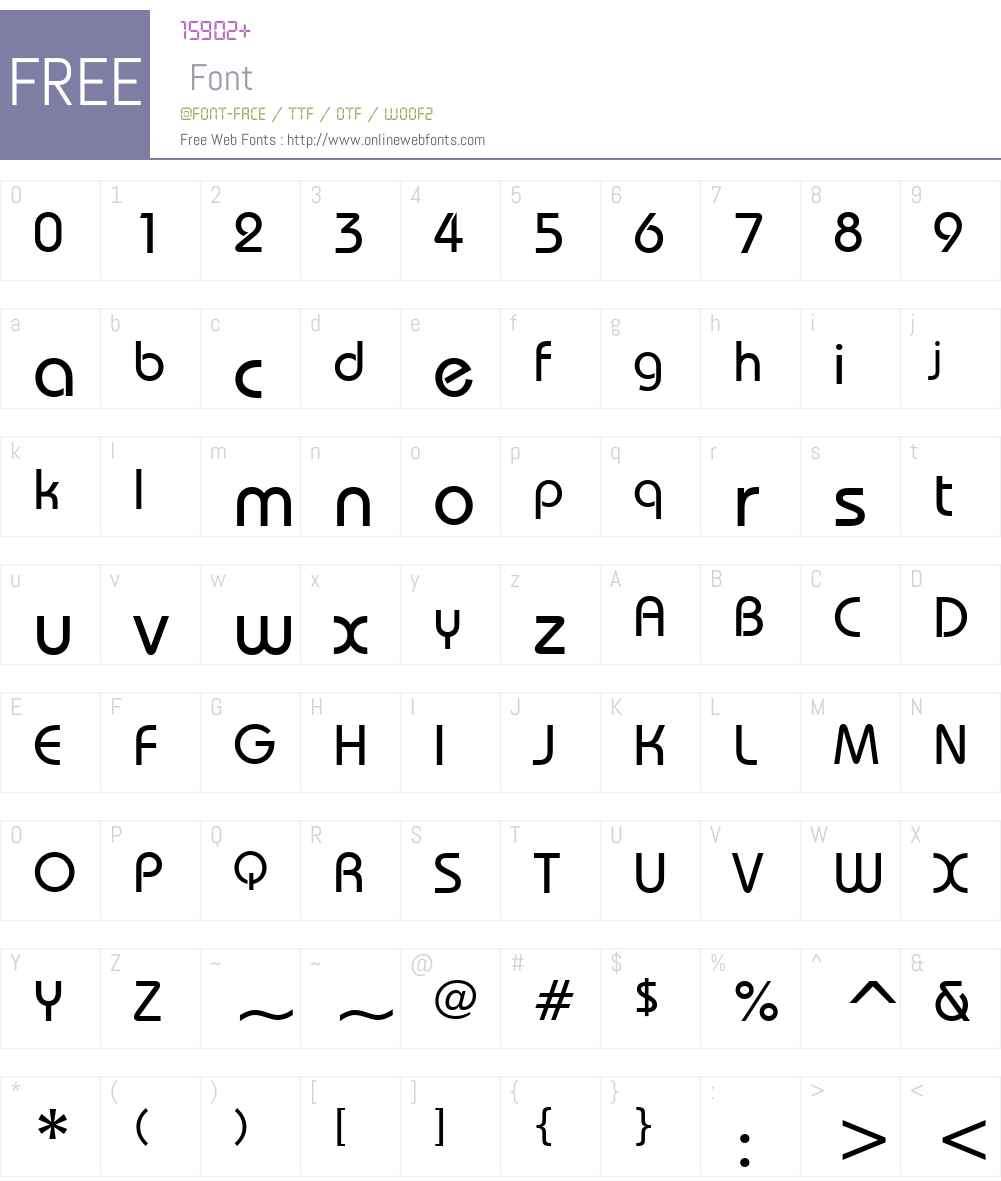 122-CAI978 Font Screenshots
