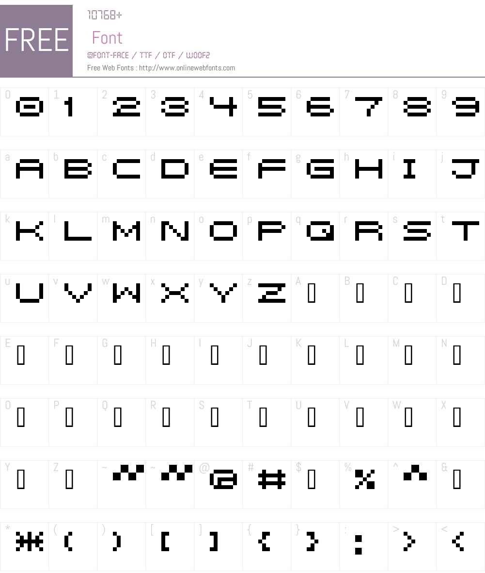 5pxbus Font Screenshots