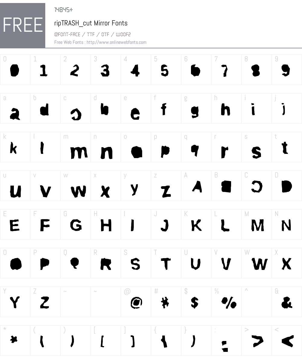 ripTRASHcut Font Screenshots