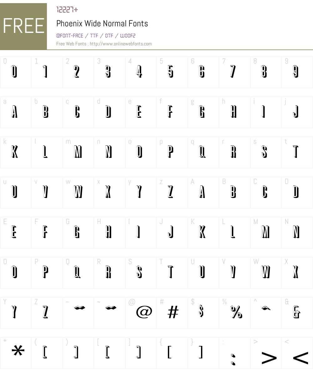 Phoenix Wide Font Screenshots