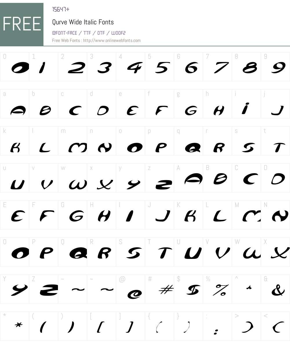 Qurve Wide Font Screenshots