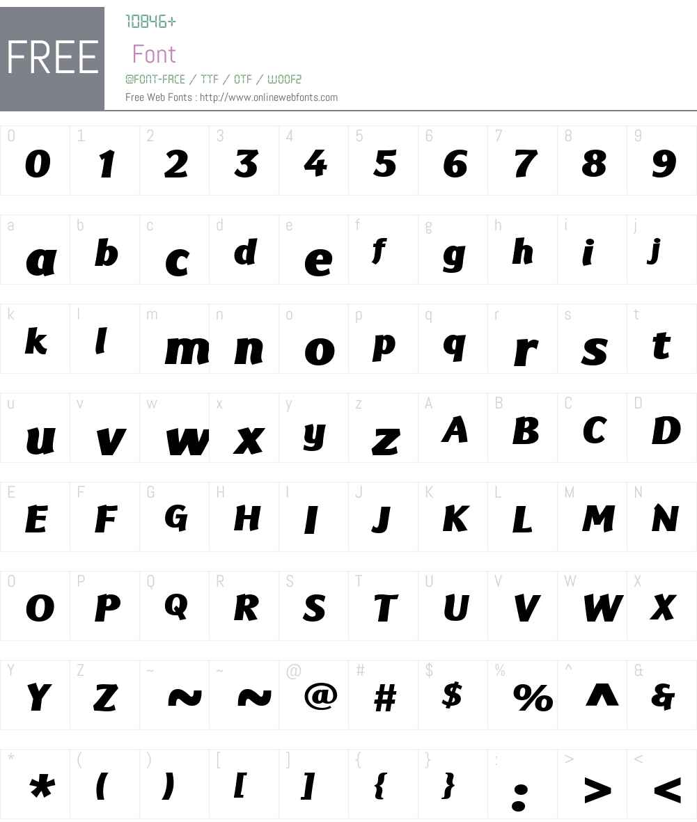 EurocratW01-BlackItalic Font Screenshots