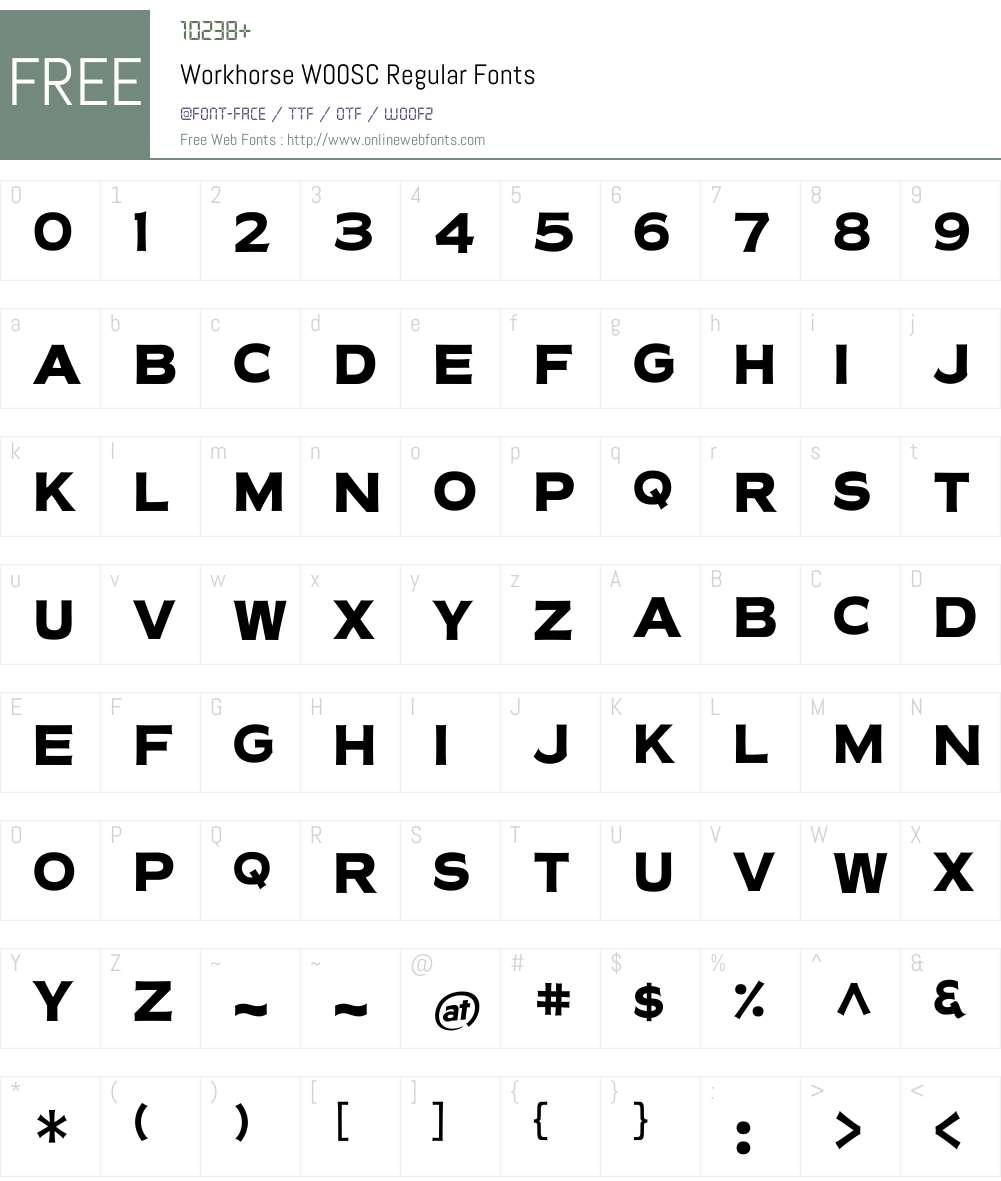 Workhorse Font Screenshots