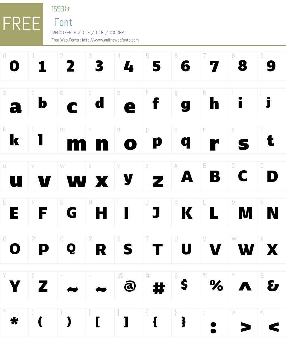 Ebony Font Screenshots