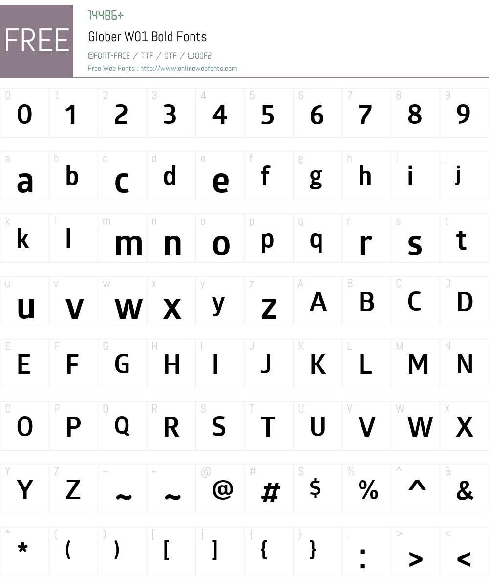 GloberW01-Bold Font Screenshots