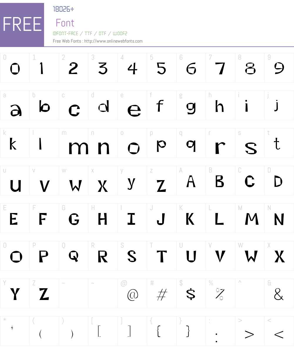 Kwirky Font Screenshots