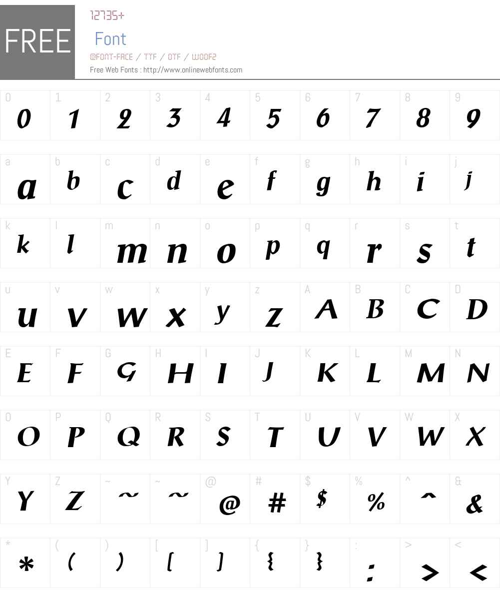 ScriptualeW01-BoldItalic Font Screenshots
