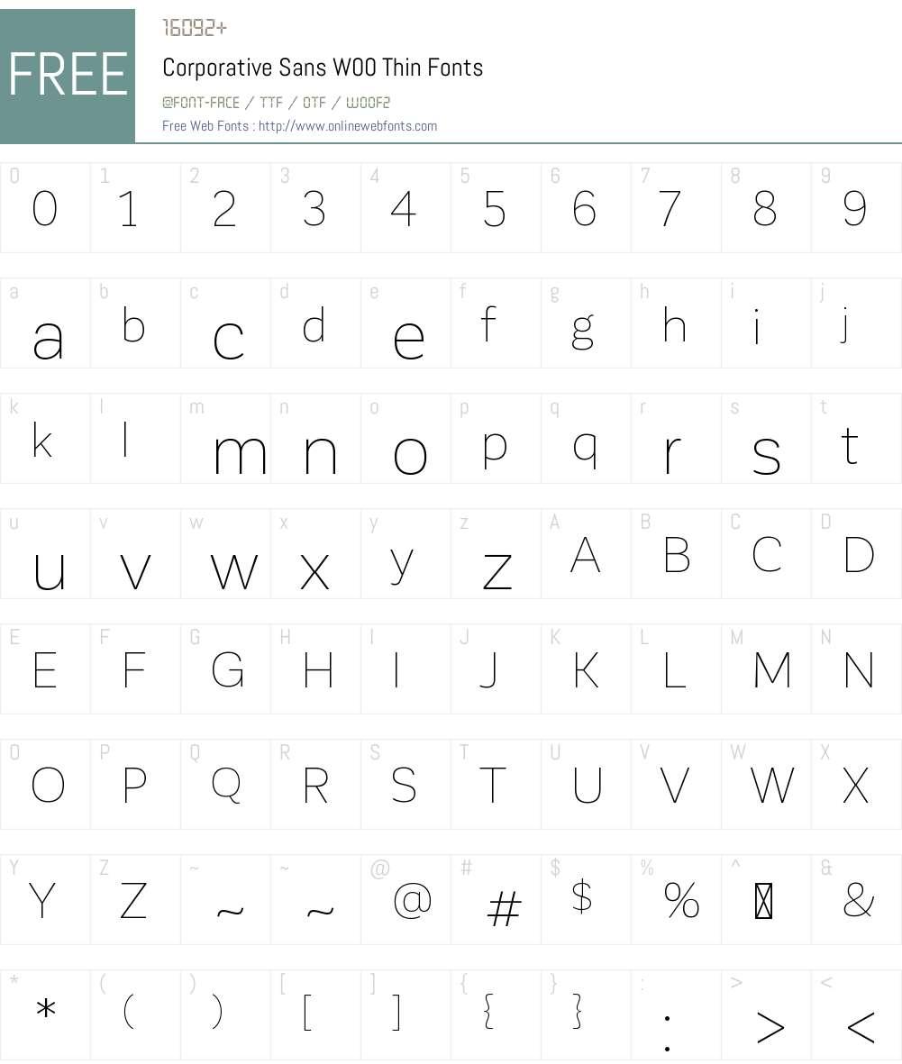 Corporative Sans Font Screenshots