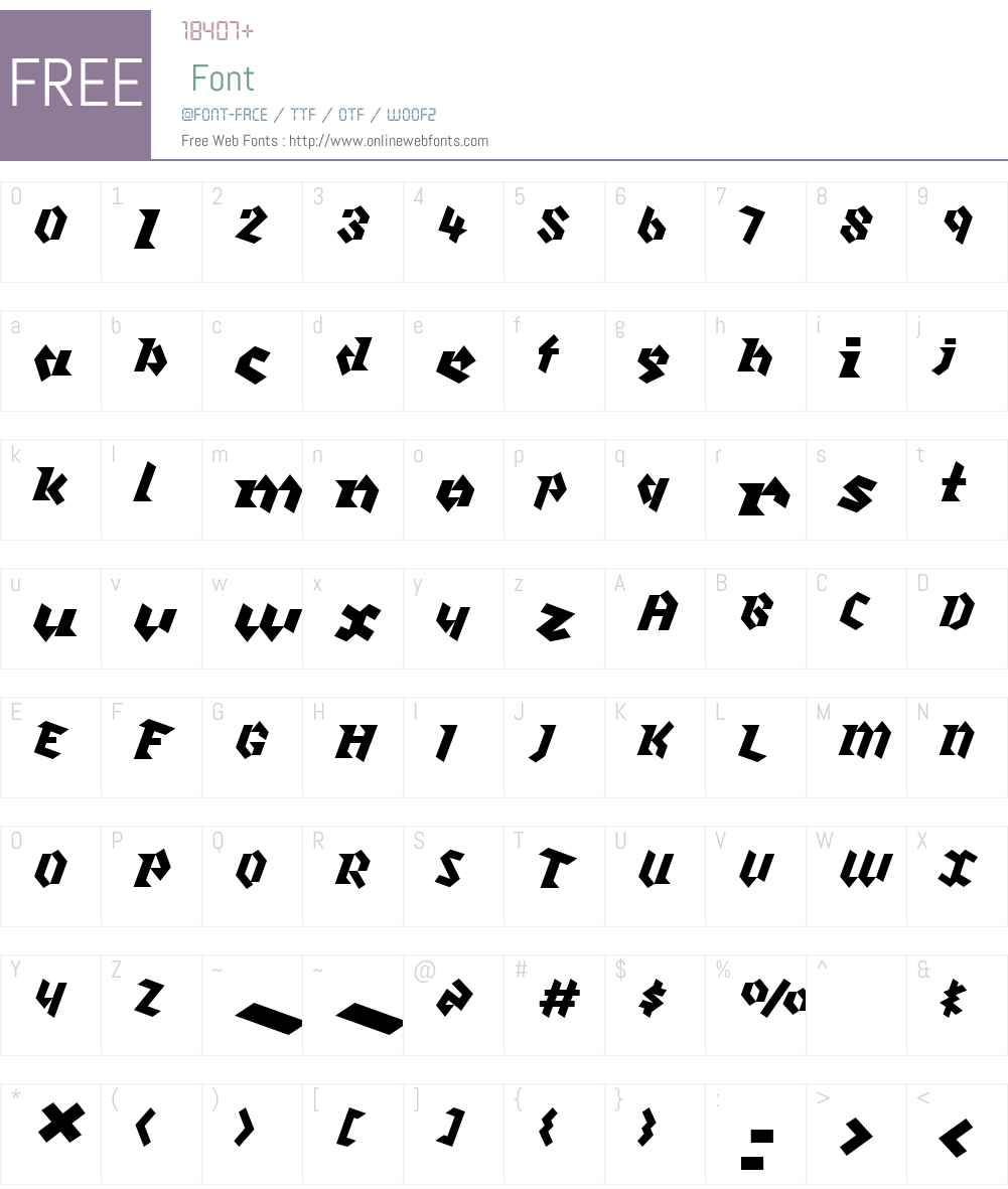 Klute Font Screenshots