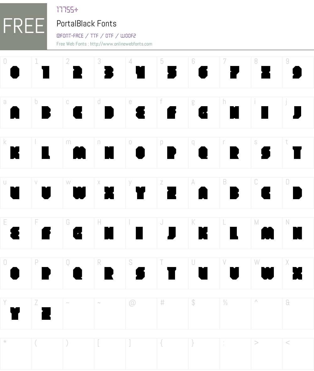 Portal Black Font Screenshots