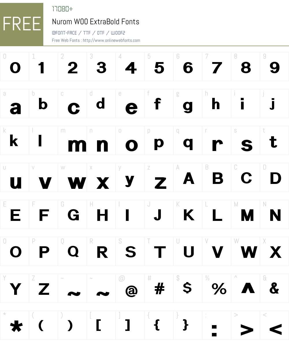 NuromW00-ExtraBold Font Screenshots