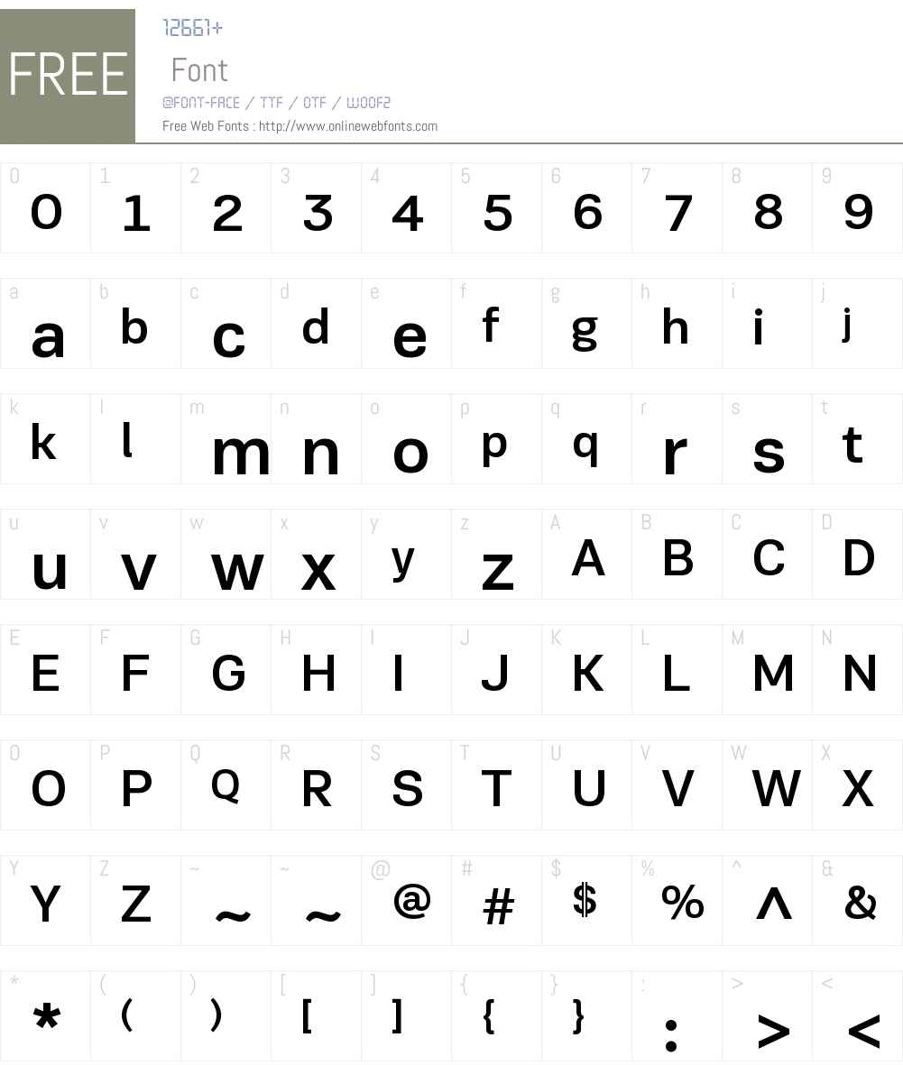 PFEncoreSansW01-Medium Font Screenshots