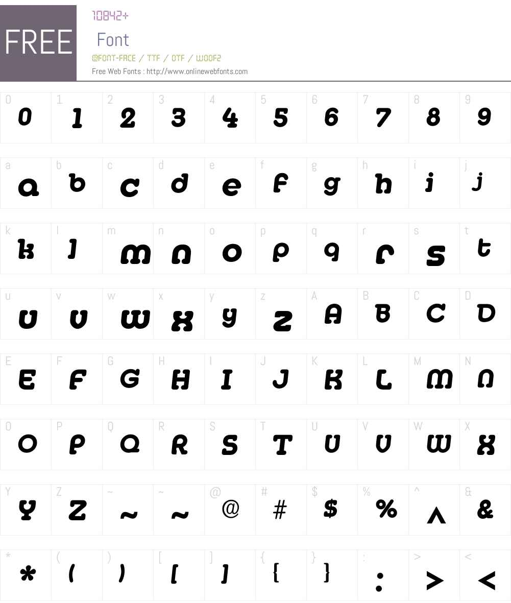 Imedia Font Screenshots