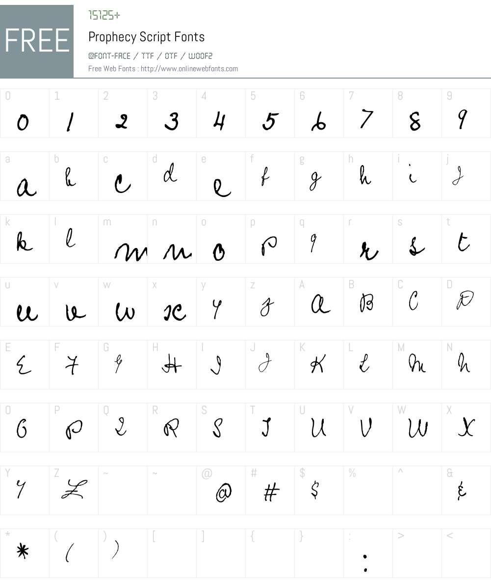 Prophecy Script Font Screenshots