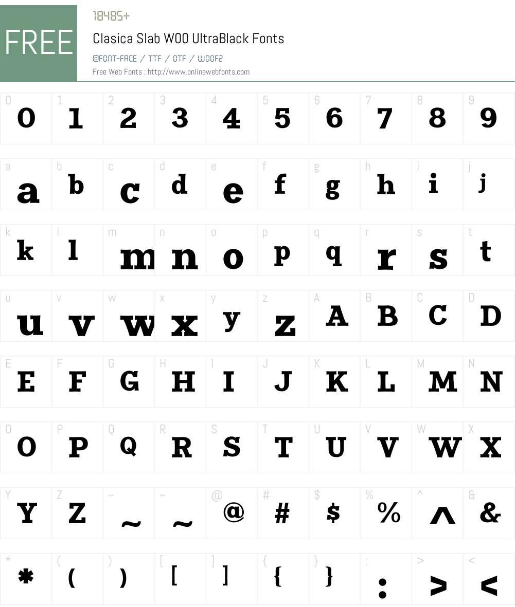 ClasicaSlabW00-UltraBlack Font Screenshots