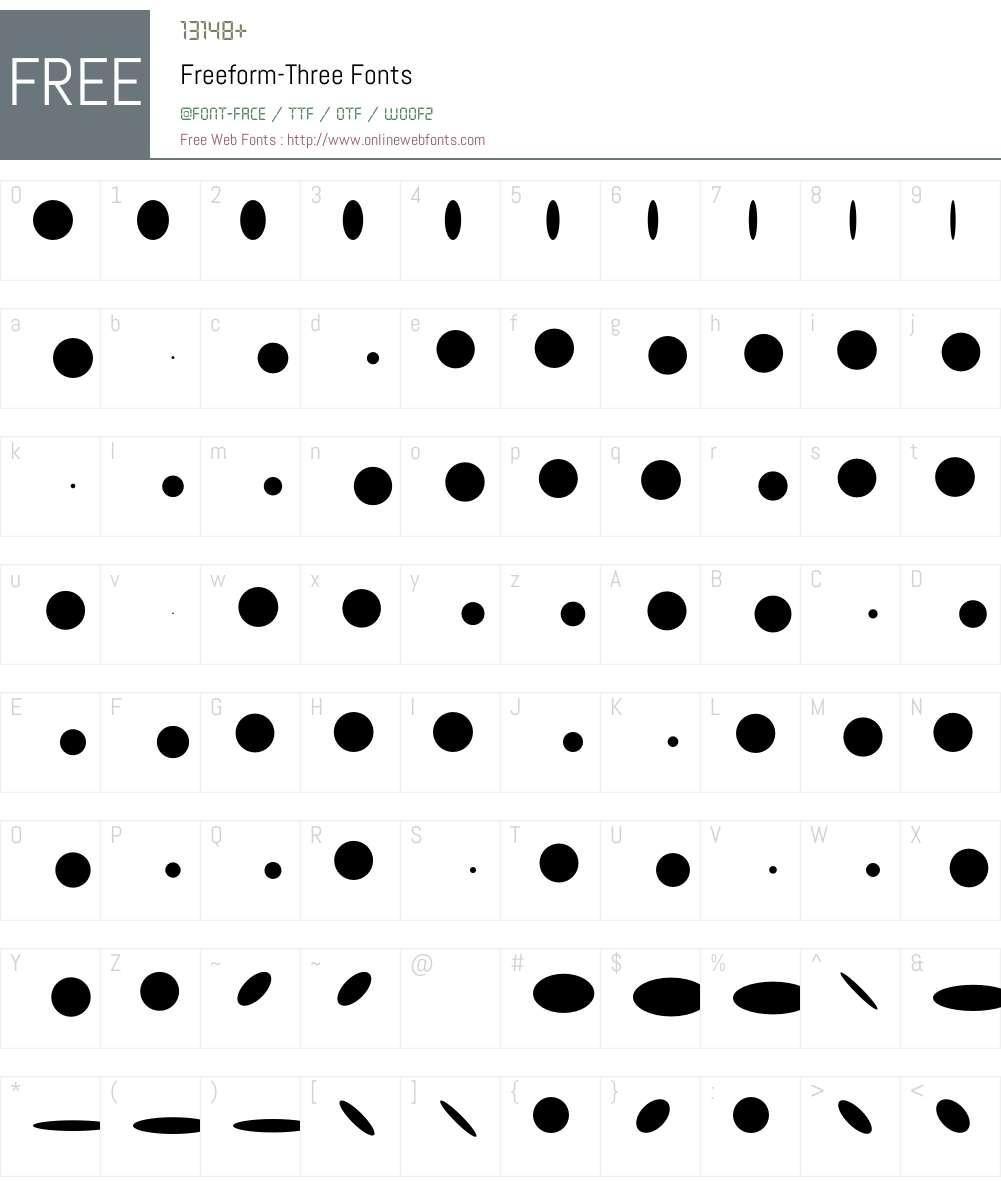Freeform Font Screenshots