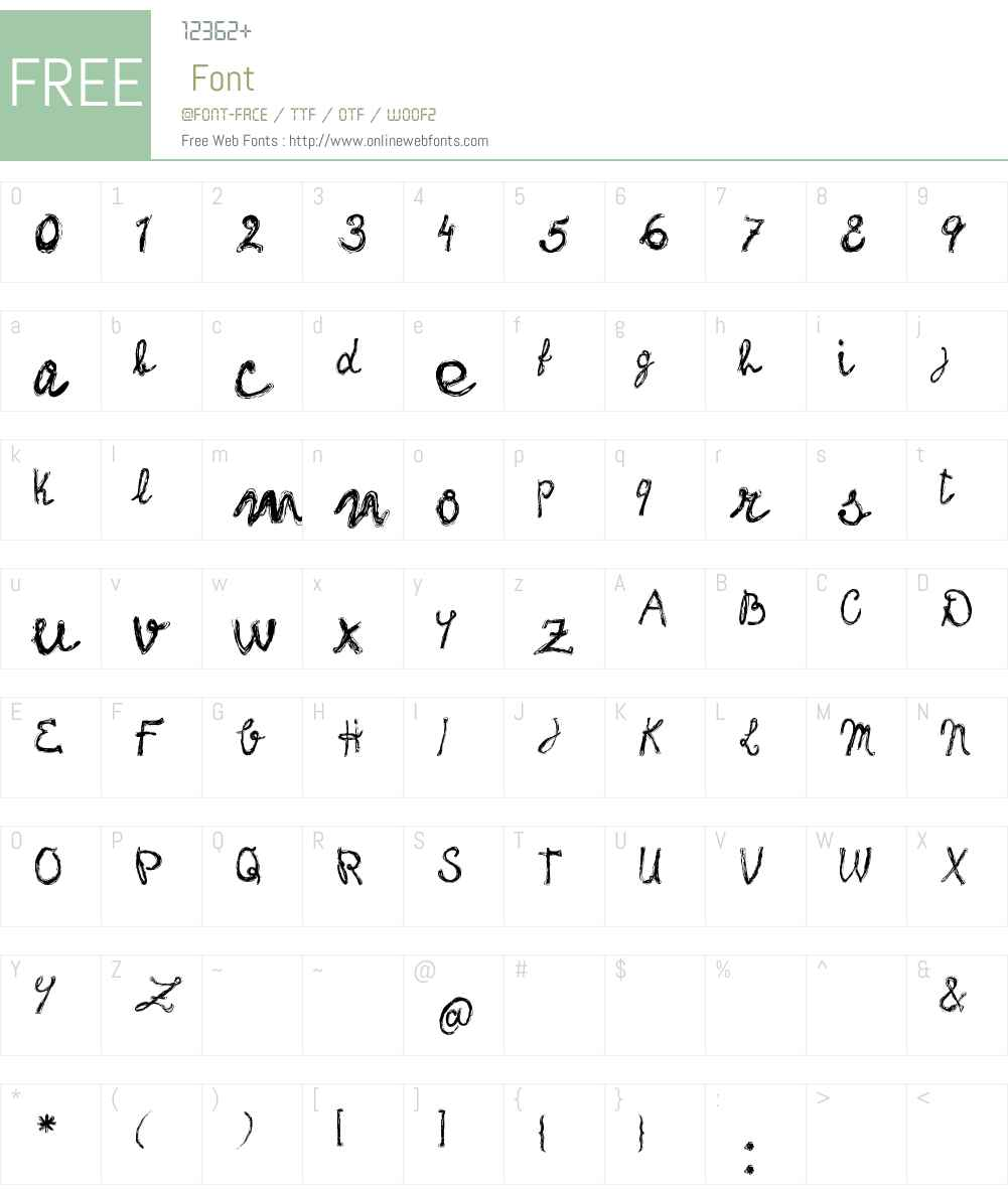 frank-handwriting_free-version Font Screenshots