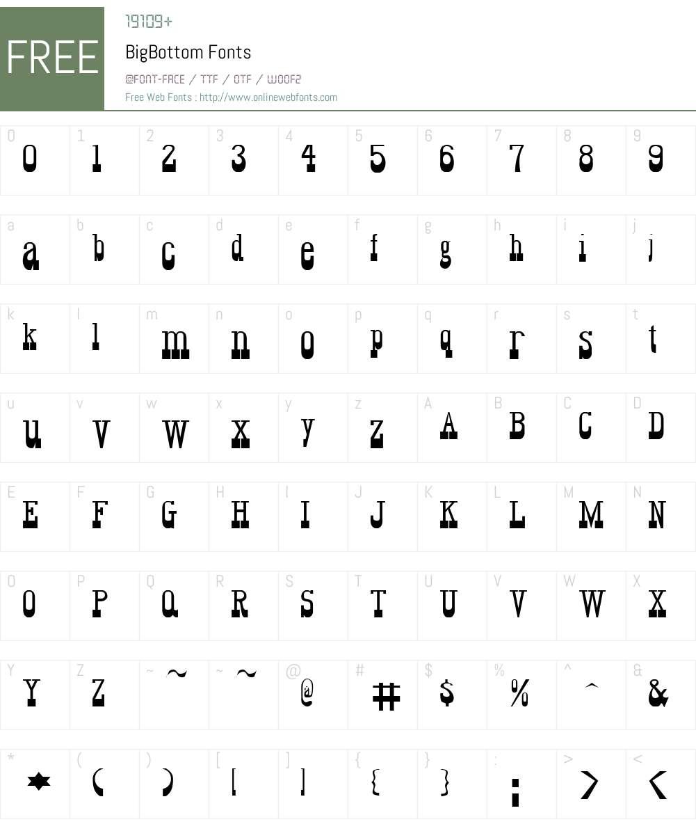 BigBottom Font Screenshots