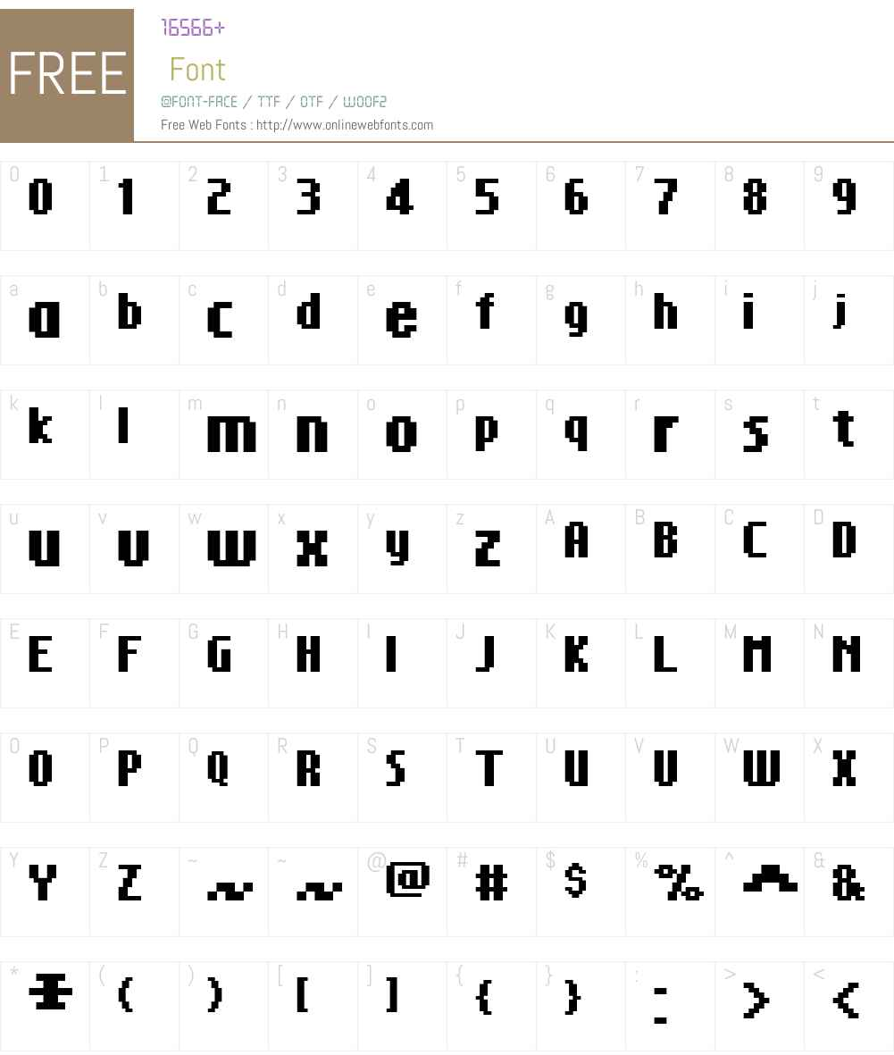 FFF Glorious Bold Extended Font Screenshots
