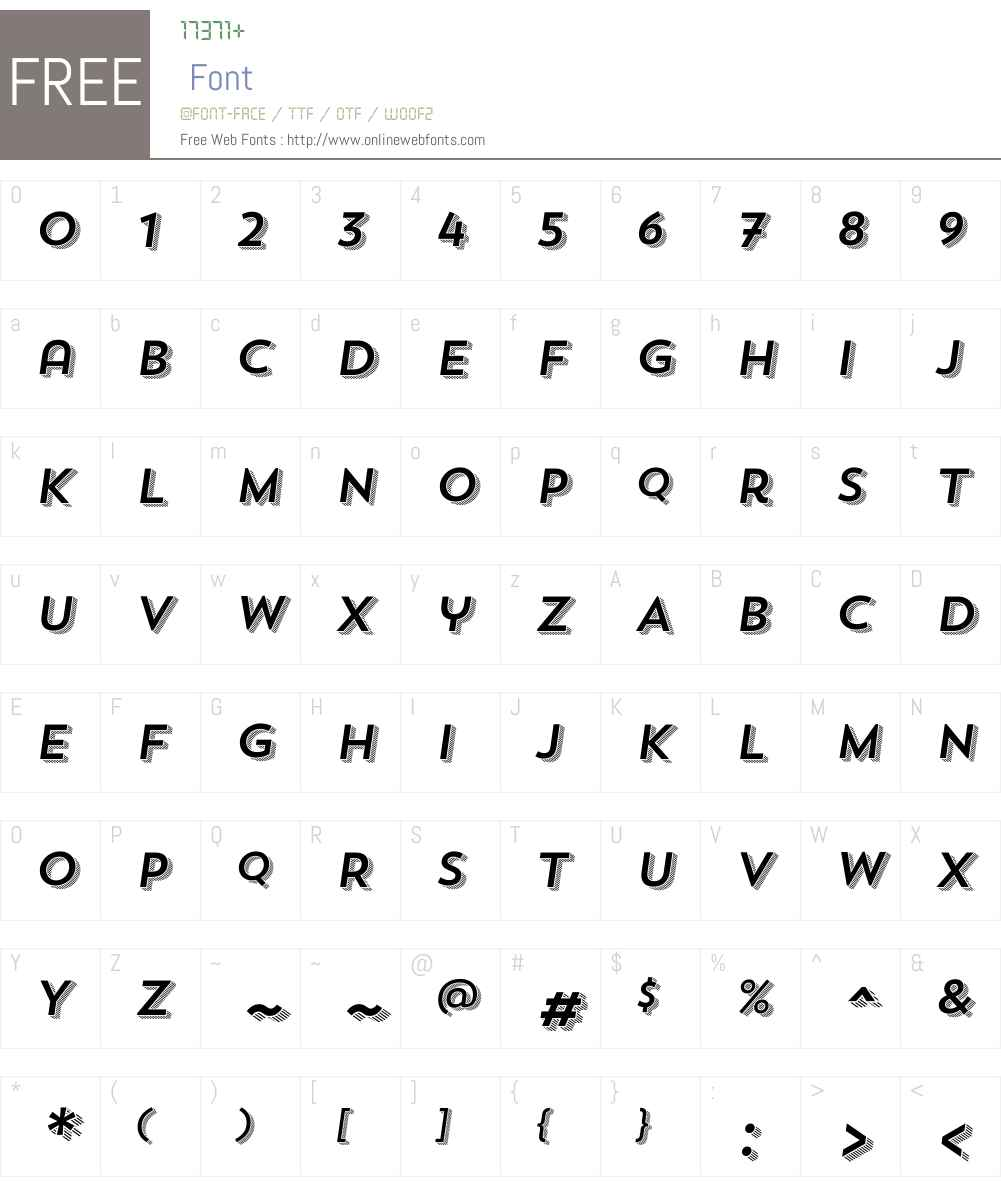 TrendSansW00-FourItalic Font Screenshots