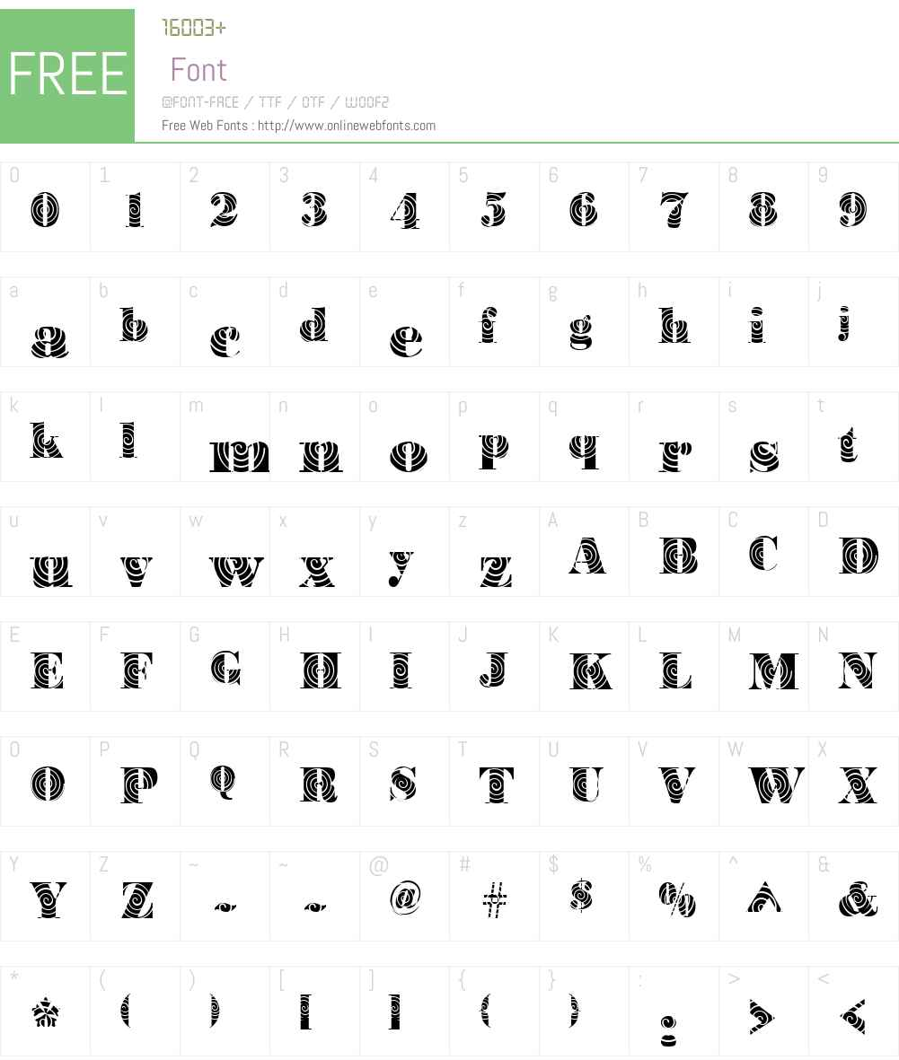 BodoniWinding Font Screenshots