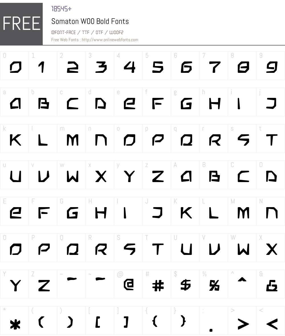 SomatonW00-Bold Font Screenshots
