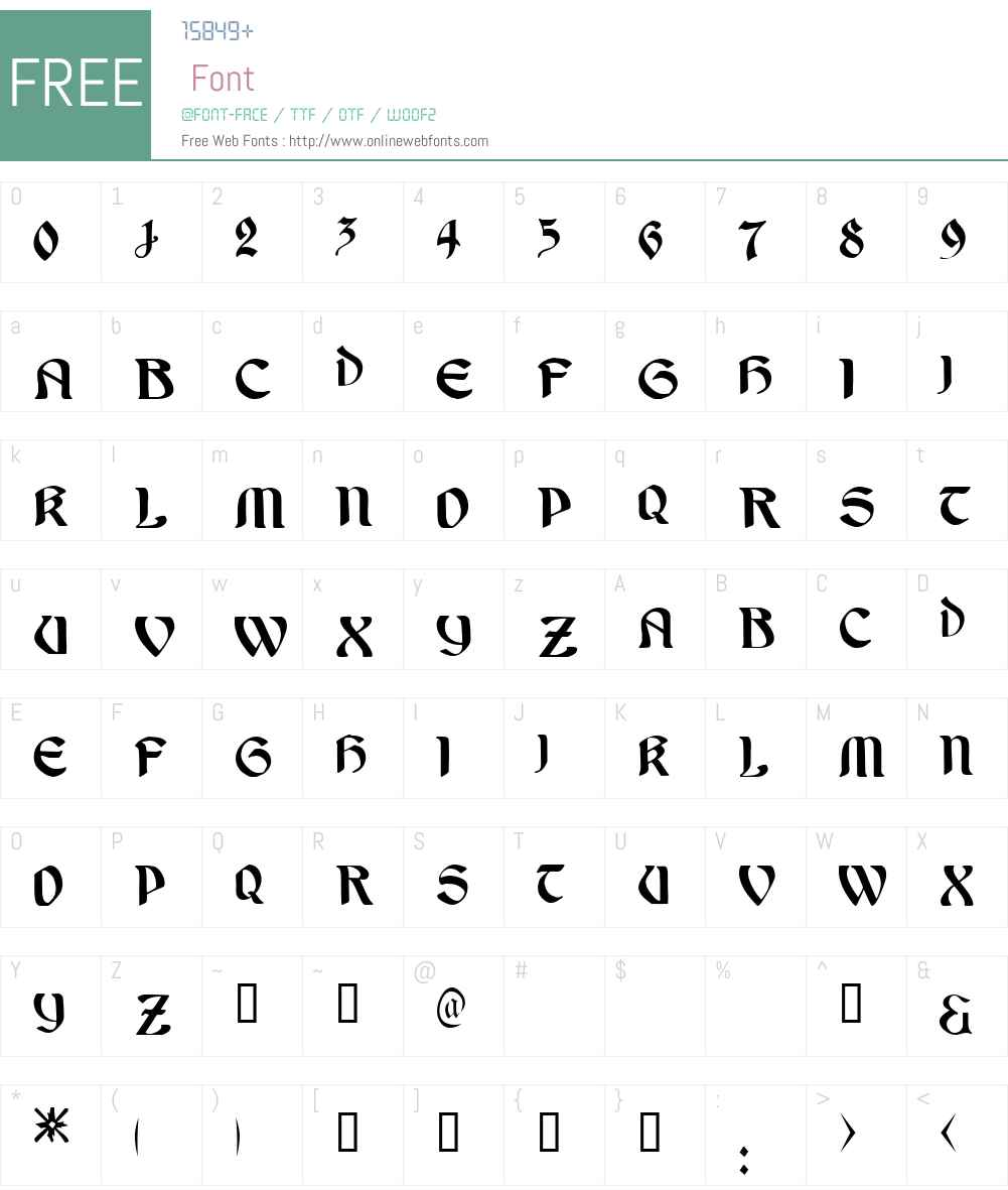 Undine! Font Screenshots