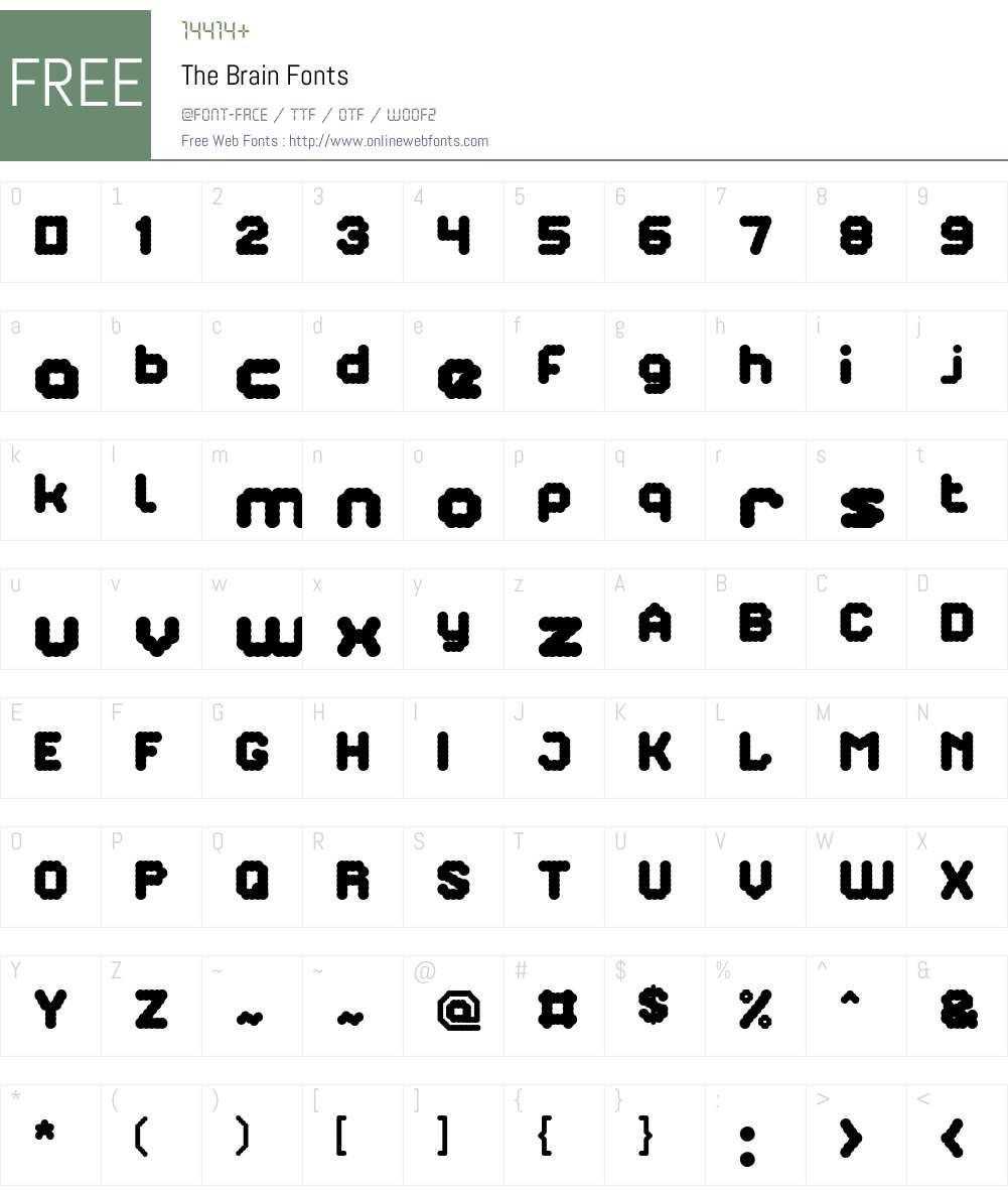 The Brain Font Screenshots
