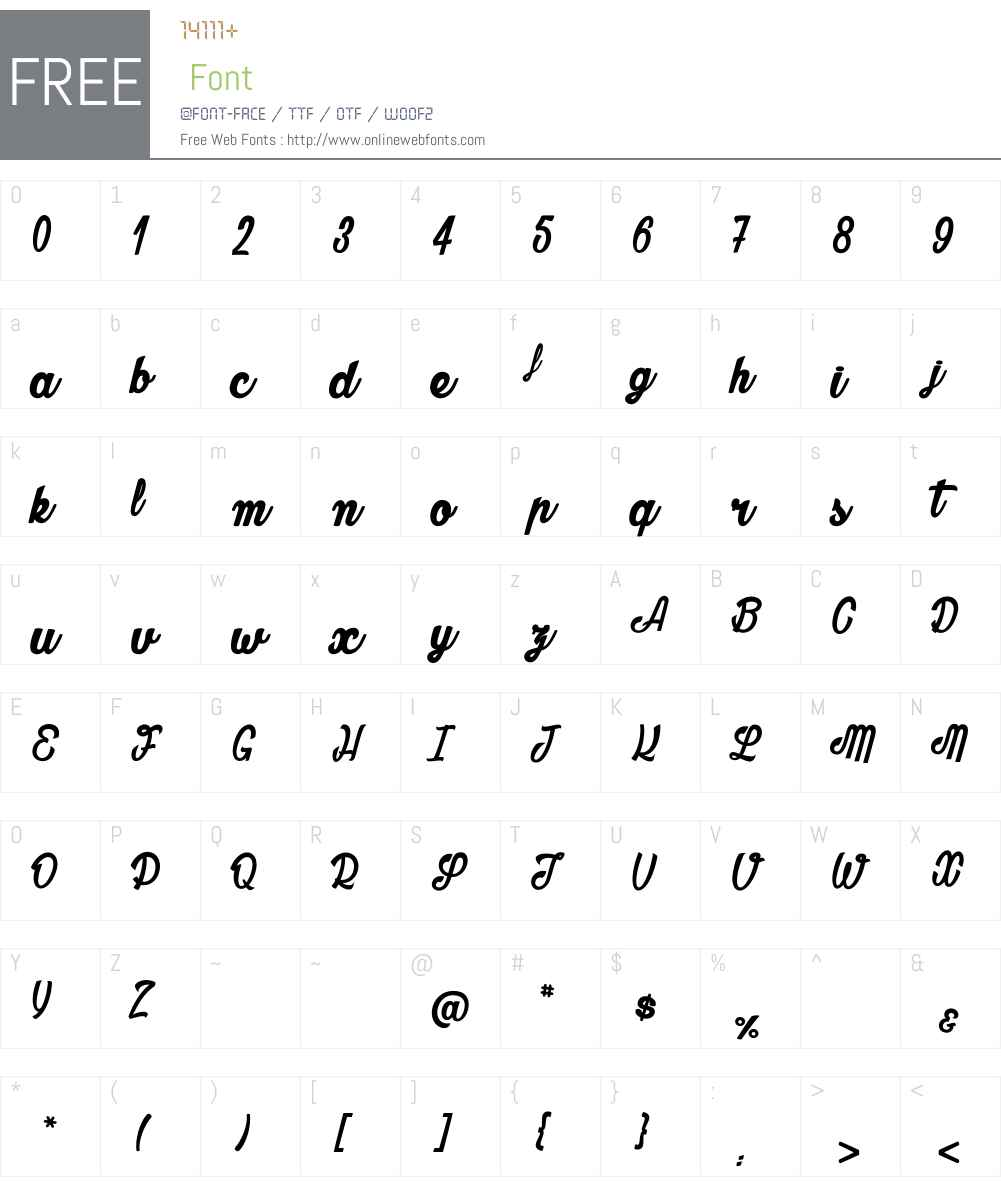 Oblivion_PersonalUseOnly Font Screenshots