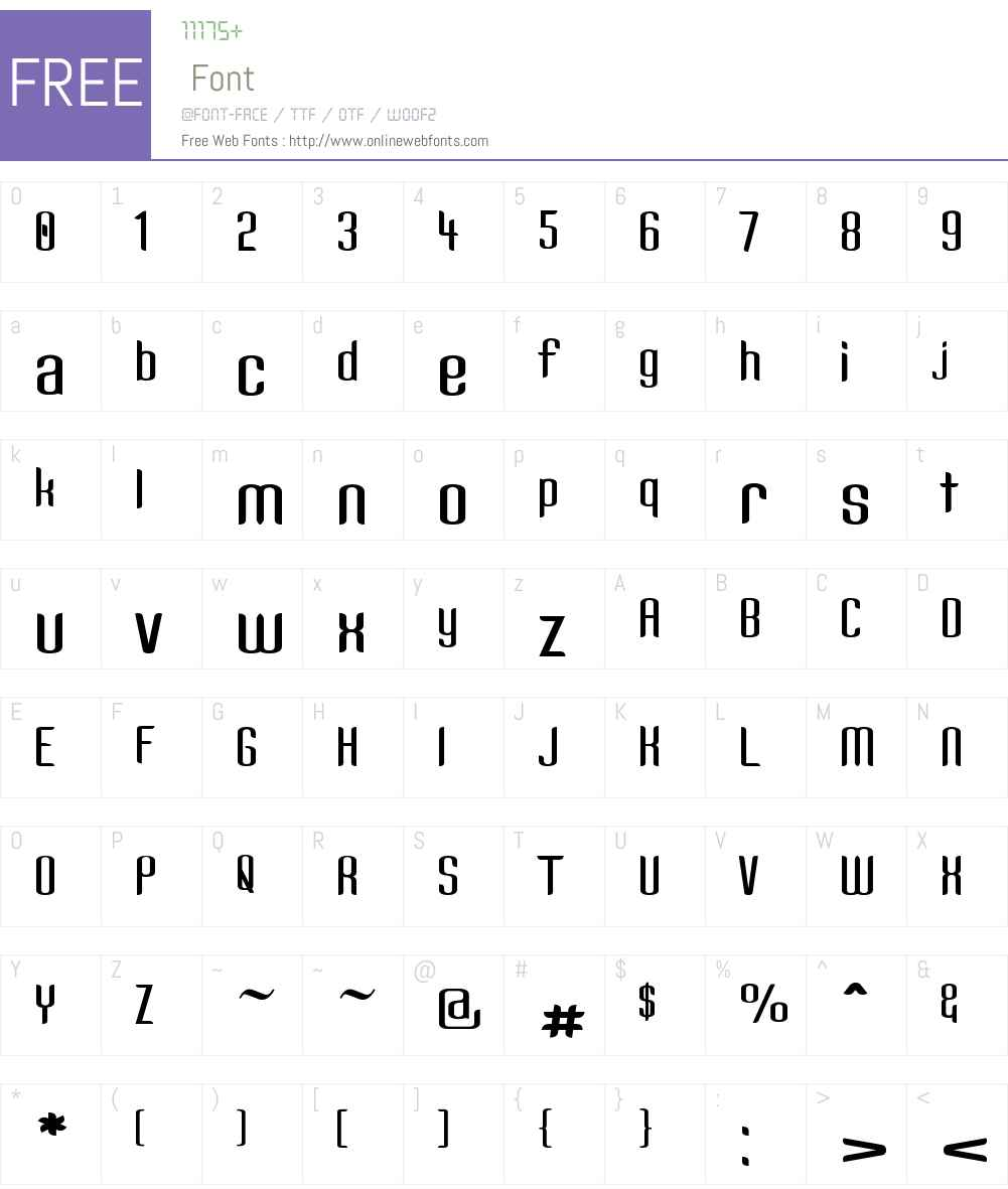 Kandide Wide Font Screenshots