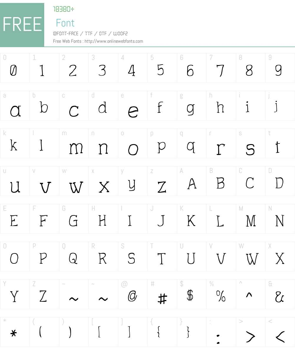 Charrington Roughened Font Screenshots