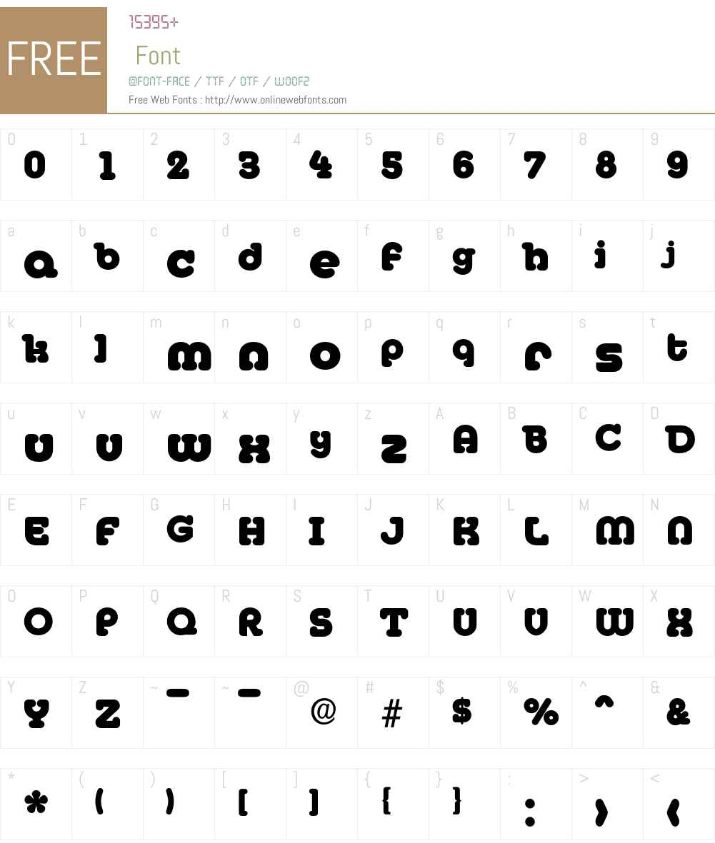 Media-ExtraBold Font Screenshots