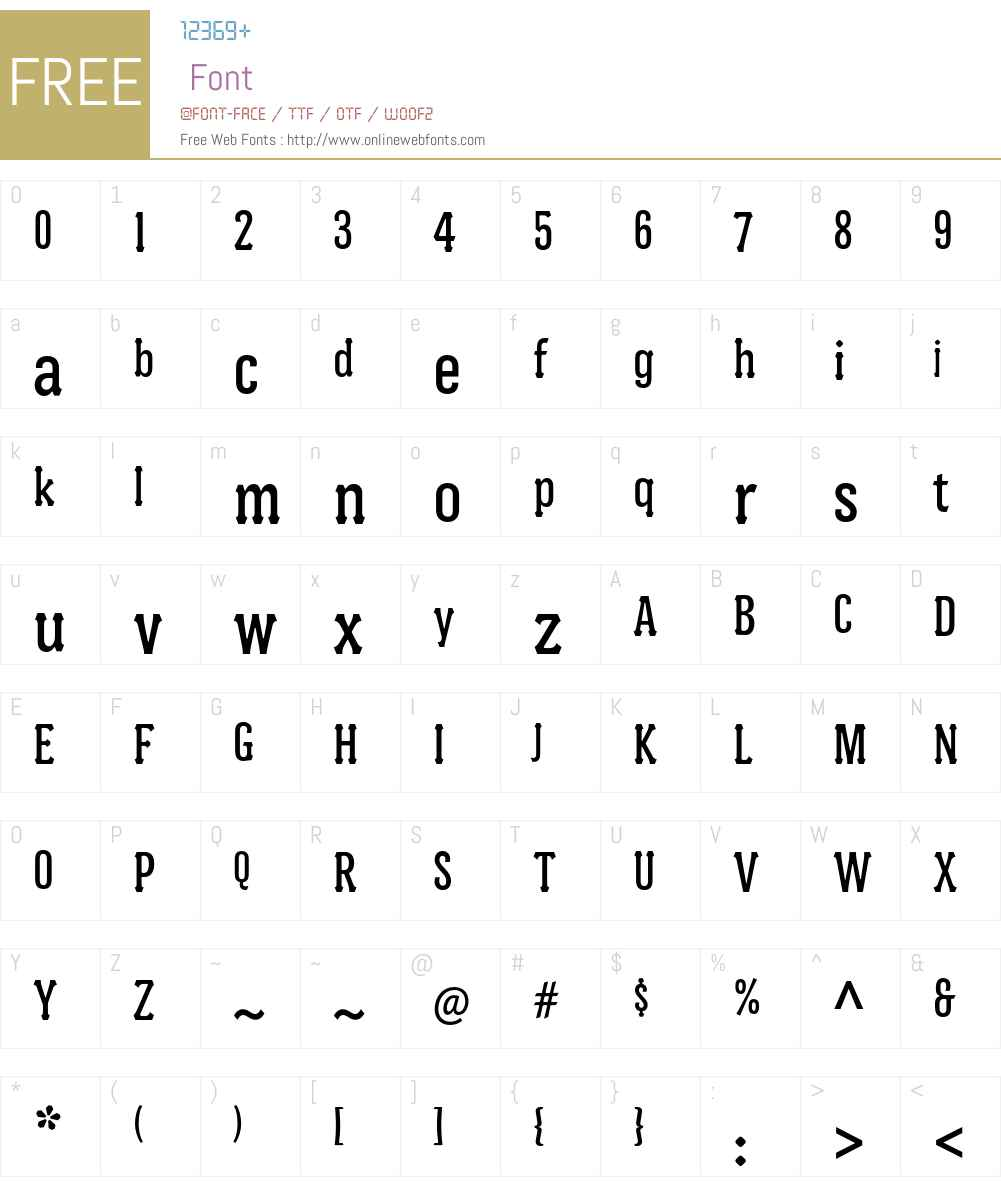 Batak Condensed ITC Std Font Screenshots