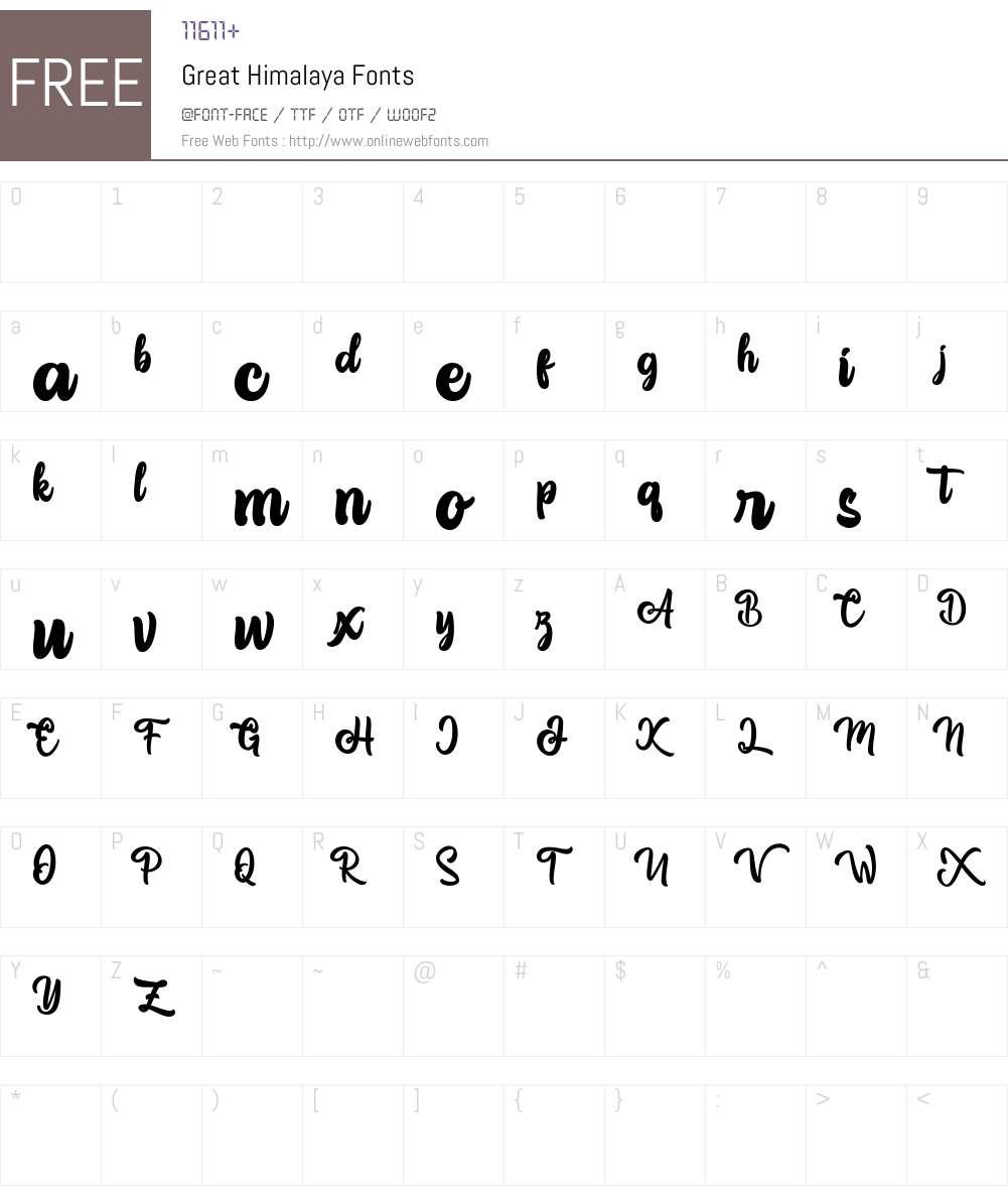 Great Himalaya Font Screenshots