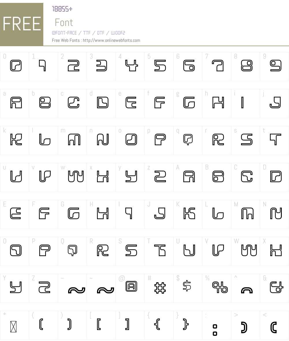 Data90W00-Outline Font Screenshots