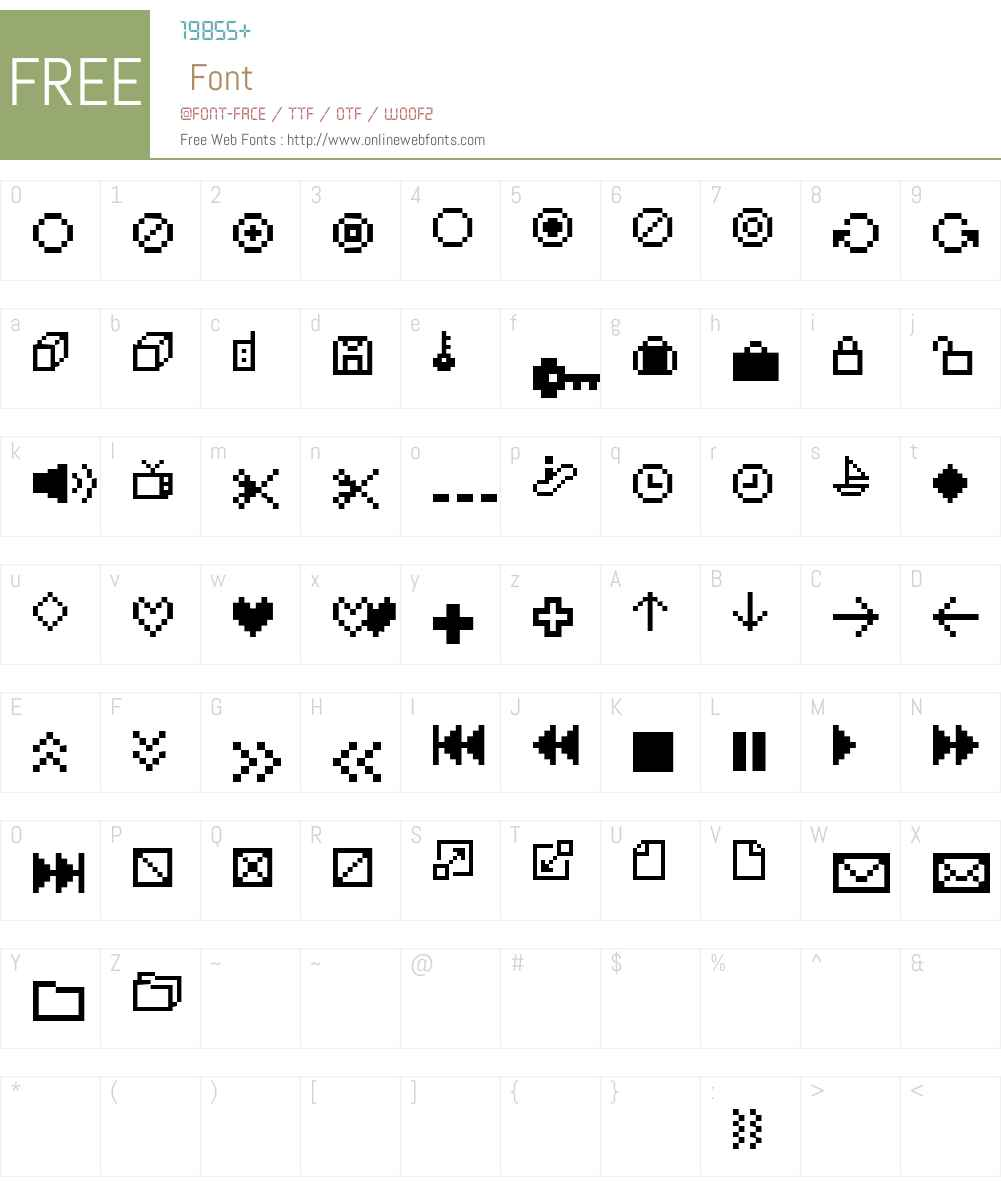 IconBitOne Font Screenshots