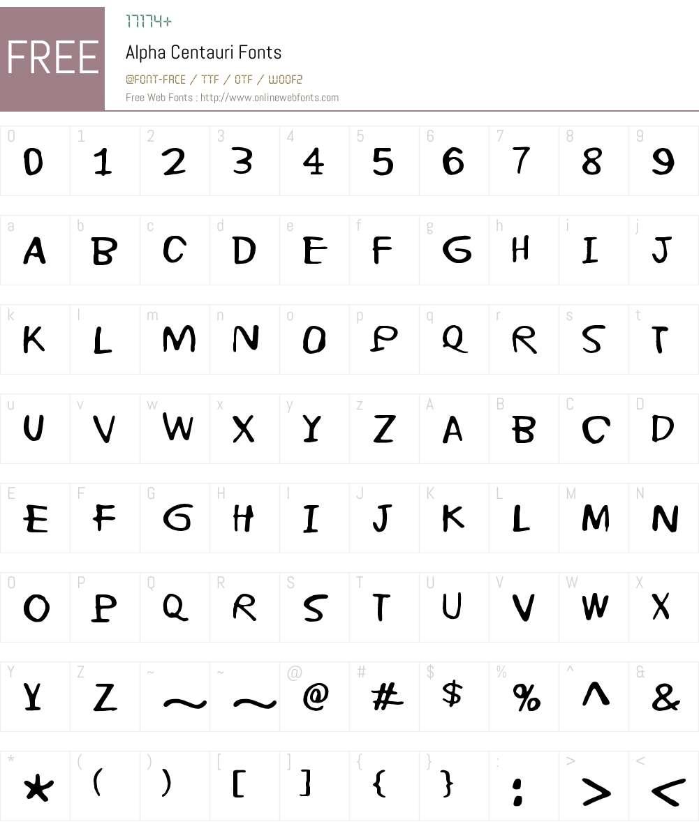 Alpha Centauri Font Screenshots