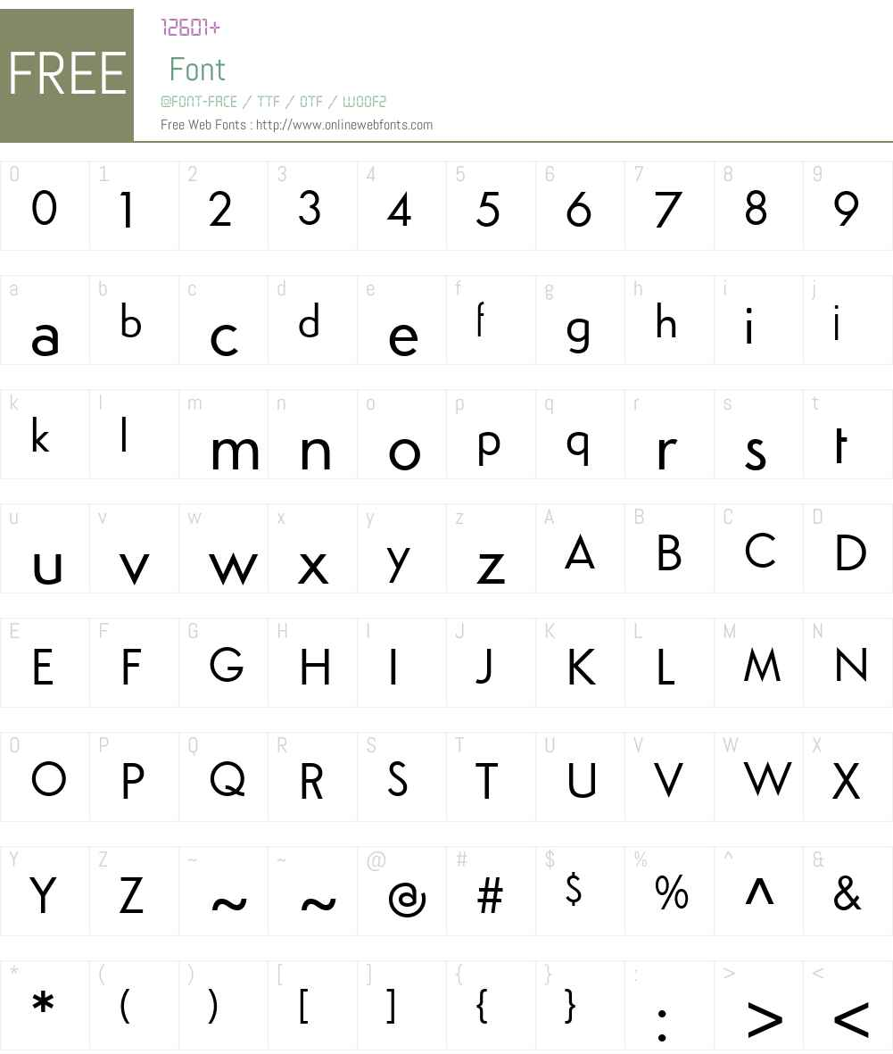 SimploW00-Regular Font Screenshots