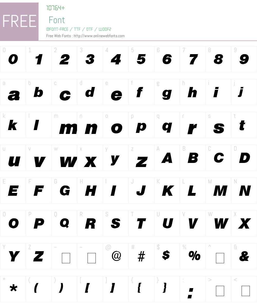 Choque Display SSi Font Screenshots