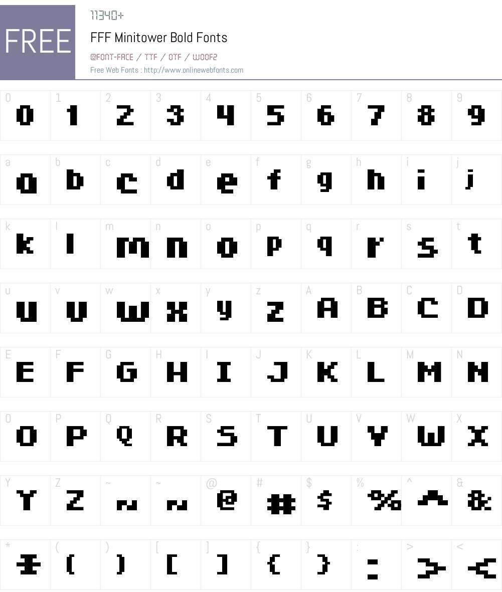 FFF Minitower Bold Font Screenshots